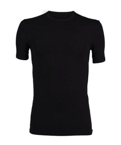 Bamboe shirt ronde hals zwart -0
