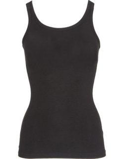 Bamboe hemd dames zwart