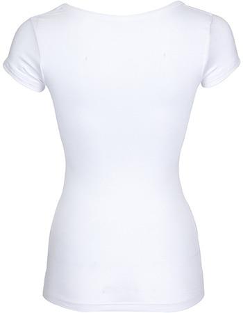 Bamboe shirt dames - V-hals wit
