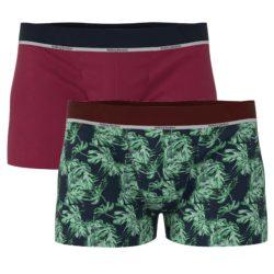 Heren bamboe boxershorts 2-pack bladprint