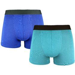 Heren bamboe boxershort kobalt blauw